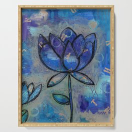 Abstract - Lotus flower - Intuitive Serving Tray