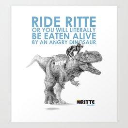 Rittesaurus Art Print