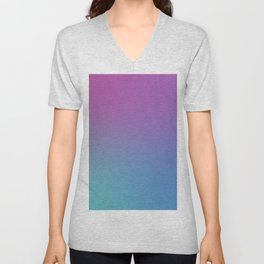 SUPERSTITION FUTURE - Minimal Plain Soft Mood Color Blend Prints Unisex V-Neck