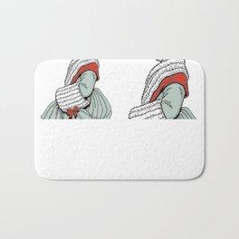 Masked Girl Bath Mat