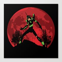 neon genesis evangelion Canvas Prints featuring Neon Genesis Evangelion Unit 01 - Hill Top by kamonkey