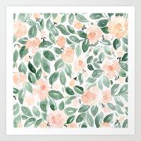 Loose watercolor florals,