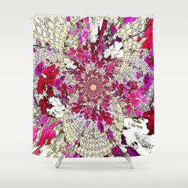 ABSTRACT pink  COLOR FOR the home Shower Curtain
