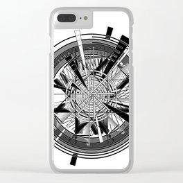 Clock Mechanisms Through The Ages Clear iPhone Case