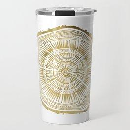 Paper Birch – Gold Tree Rings Travel Mug