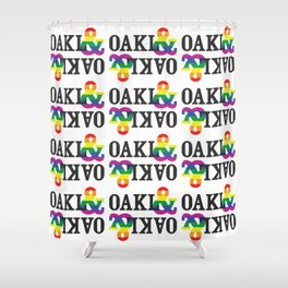 OAKL& Pride! Express Yourself & Show off Oakland Diversity/Inclusiveness with the rainbow! :-) Shower Curtain