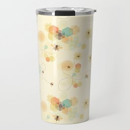 Busy bee textile pattern Travel Mug
