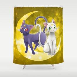 Luna & Artemis (Sailor Moon Crystal edit.) Shower Curtain