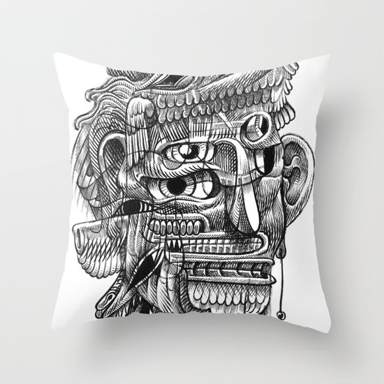 Fright 3 Throw Pillow