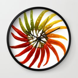Chili Color Wheel Vector Wall Clock