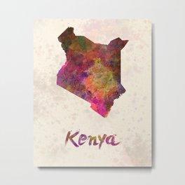Kenya in watercolor Metal Print