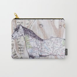 Snowy Evening Woods Carry-All Pouch