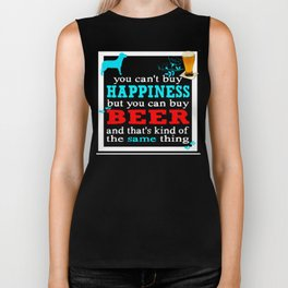 BEER AND HAPPINESS Biker Tank