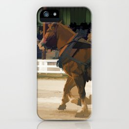 Pure Horsepower - Horse Pulling Event iPhone Case
