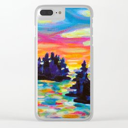 Landscape With Saucers Clear iPhone Case