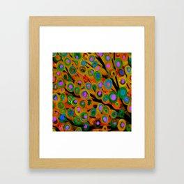 Fall Red Leaves Tree Framed Art Print