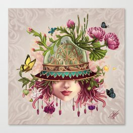 Hat Terrarium Canvas Print