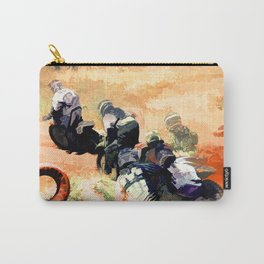 Leading the Pack  - Motocross Racers Carry-All Pouch