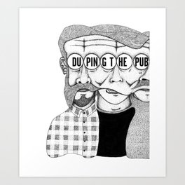 duping.the.public A-side Art Print