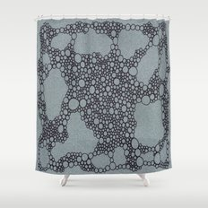 Black Bubbles  Shower Curtain