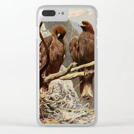 Kuhnert, Friedrich Wilhelm (1865-1926) - Wild Life of the World 1916 v.1 (Golden Eagle) Clear iPhone Case