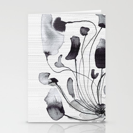 ink flowers Stationery Cards