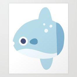 Cute Baby Mola Mola Ocean Sunfish Art Print