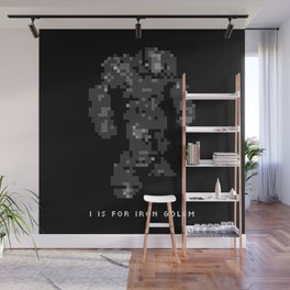 I is for Iron Golem Wall Mural