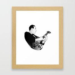 LES PAUL House of Sound - WHITE GUITAR Framed Art Print