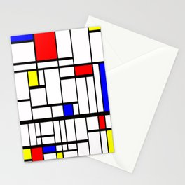 Mondrian inspired Stationery Cards