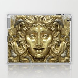 """Ancient Golden and Silver Medusa Myth"" Laptop & iPad Skin"