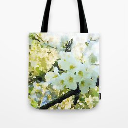 cherry blossom water color Tote Bag