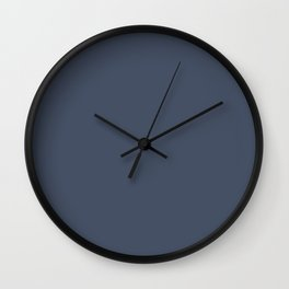 Dark Slate Blue Gray Wall Clock