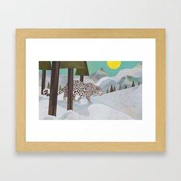 Snow Leopard January 2014 Print #2 Framed Art Print