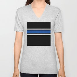 Team Colors 2...Blue,gray Unisex V-Neck