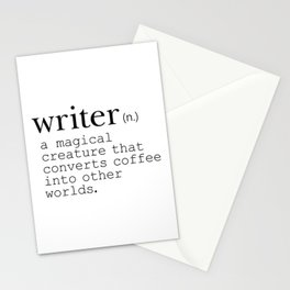 Writer Definition - Converting Coffee Stationery Cards