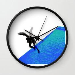 Icarian Fall#4: ABoyThatFellFromTheSky Wall Clock