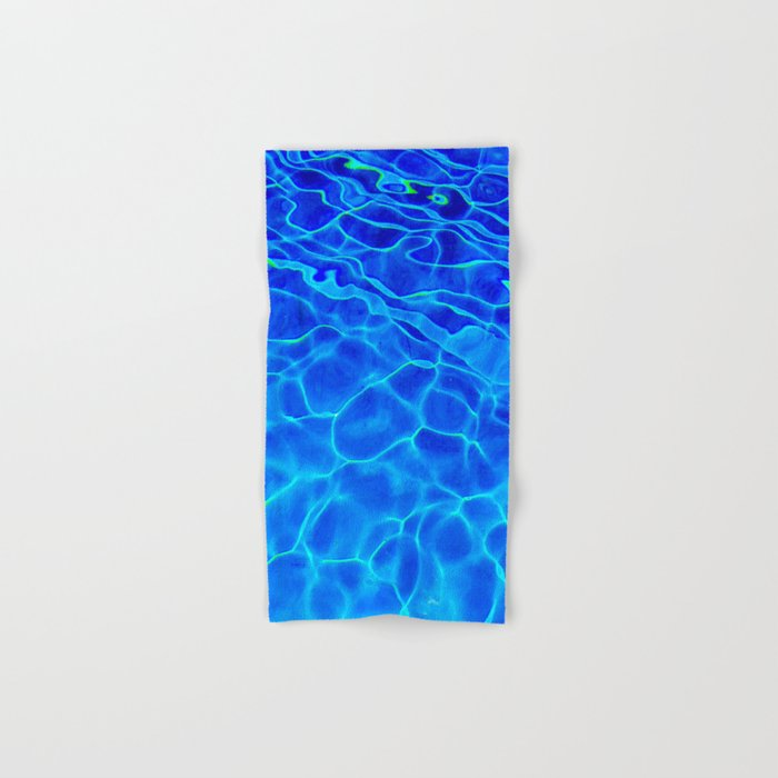 Blue Water Abstract Hand & Bath Towel