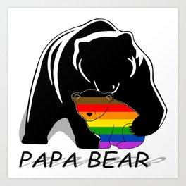 Papa Bear Philadelphia Gay Art Print