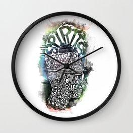 Spirits in My Head Wall Clock