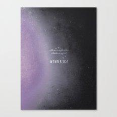 wander {violet Canvas Print