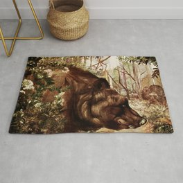 """""""Baloo"""" the Bear from Kipling's Tales of India Rug"""