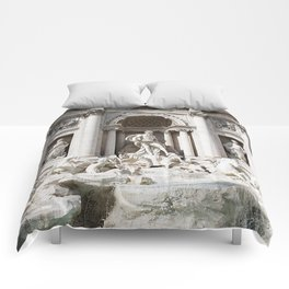 Trevi Fountain. Comforters