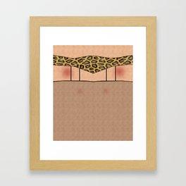 Fishnet Stockings and Leopard Skin Knickers Framed Art Print