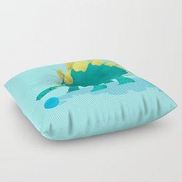 Stegosaurus and his Ball Floor Pillow