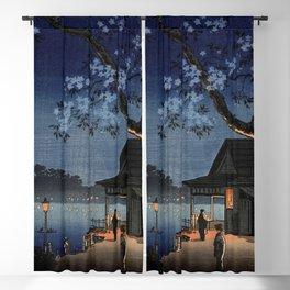 Takeya Ferry Crossing By Tsuchiya Koitsu Blackout Curtain
