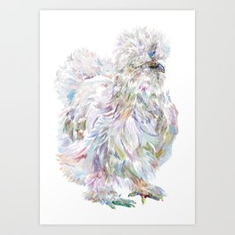 Silkie Chicken - Buchu Art Print