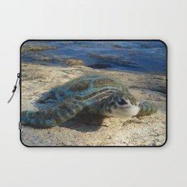 Green Sea Turtle Wool Sculpture Laptop Sleeve