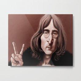 Caricature J.Lennon Metal Print