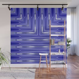 Art Deco Royal Blue Spear Pattern Wall Mural